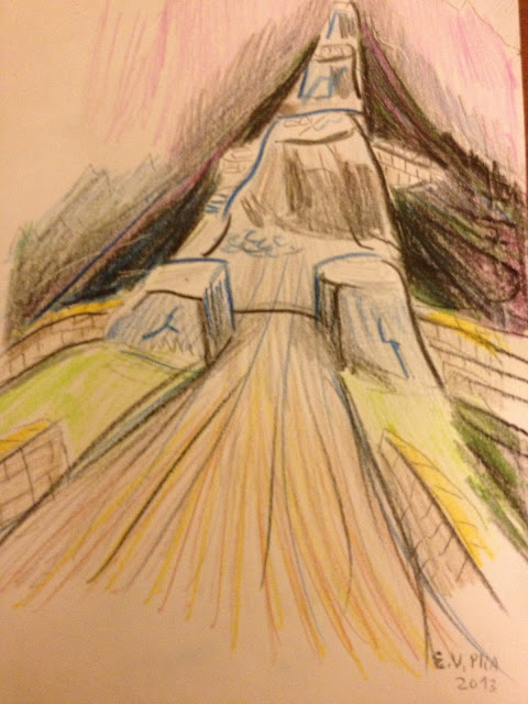 Drawing by E.V.Pita (2013) Fort-hill of Vilar